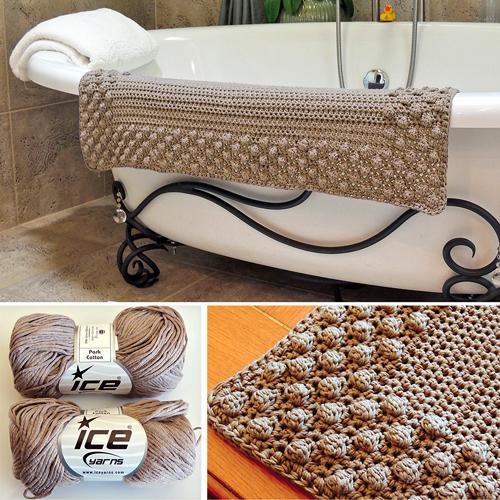 Pretty Puff Bathmat - Free Pattern
