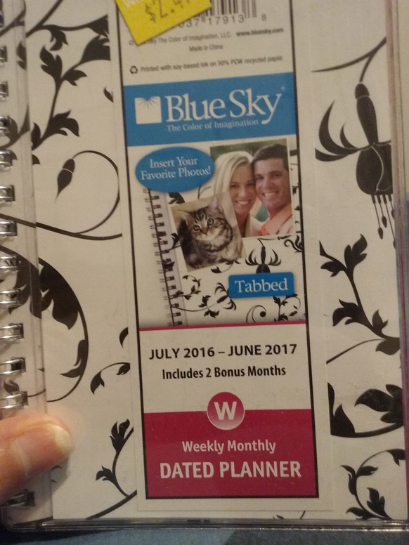 planner belonging to Juli D. Revezzo, photo by Juli D. Revezzo