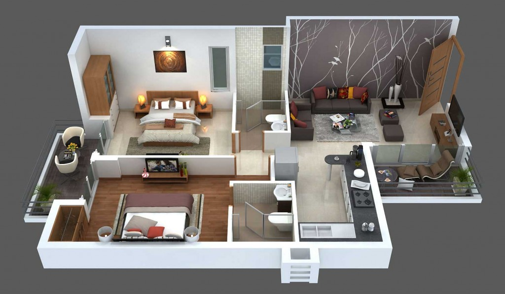 Bop properties solutions for Interior design 2bhk flat