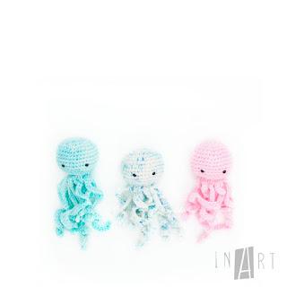patrón amigurumi Mini Medusa inart