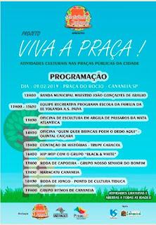 """Projeto """"VIVA A PRAÇA!"""" leva atividades culturais às praças públicas de Cananeia-SP"""