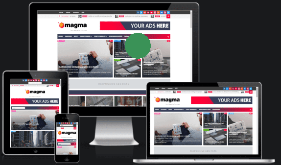 Magma Responsive Magazine Blogger Template  for free