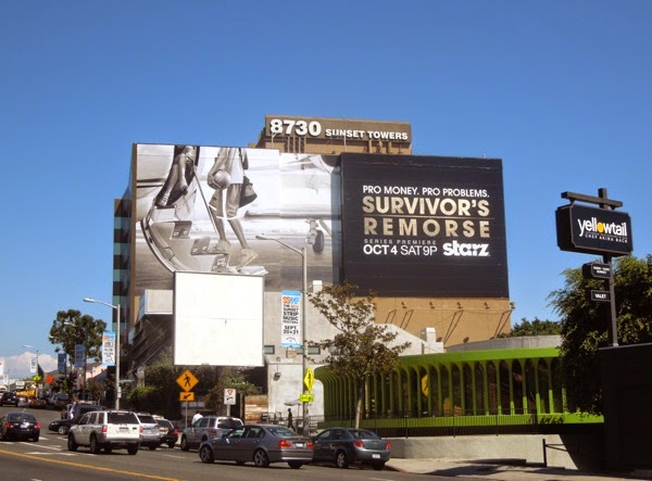 Survivor's Remorse season 1 special installation billboard Sunset Strip