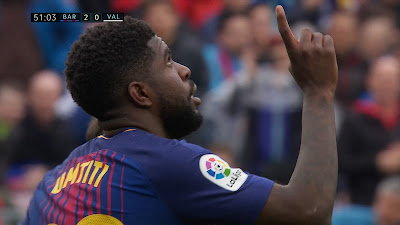 LFP-Week-32 Barcelona 2 vs 1 Valencia 14-04-2018