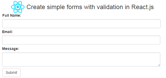 Create simple forms with validation in React.js
