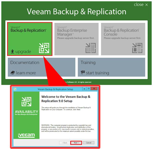 Veeam Backup & Replication Upgrade