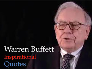 Picture depicts Warren Buffett's Inspirational Quotes