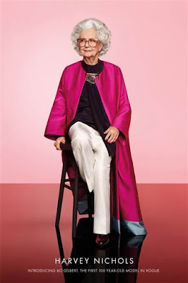British Vogue Features 100-year-old Model Bo Gilbert In Centennial Issue