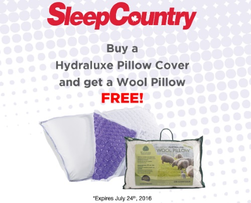 Sleep Country Free Pillow Offer