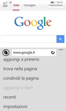 impostazioni browser nokia lumia