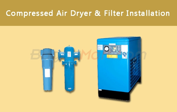 Compressed Air Dryer & Filter Installation
