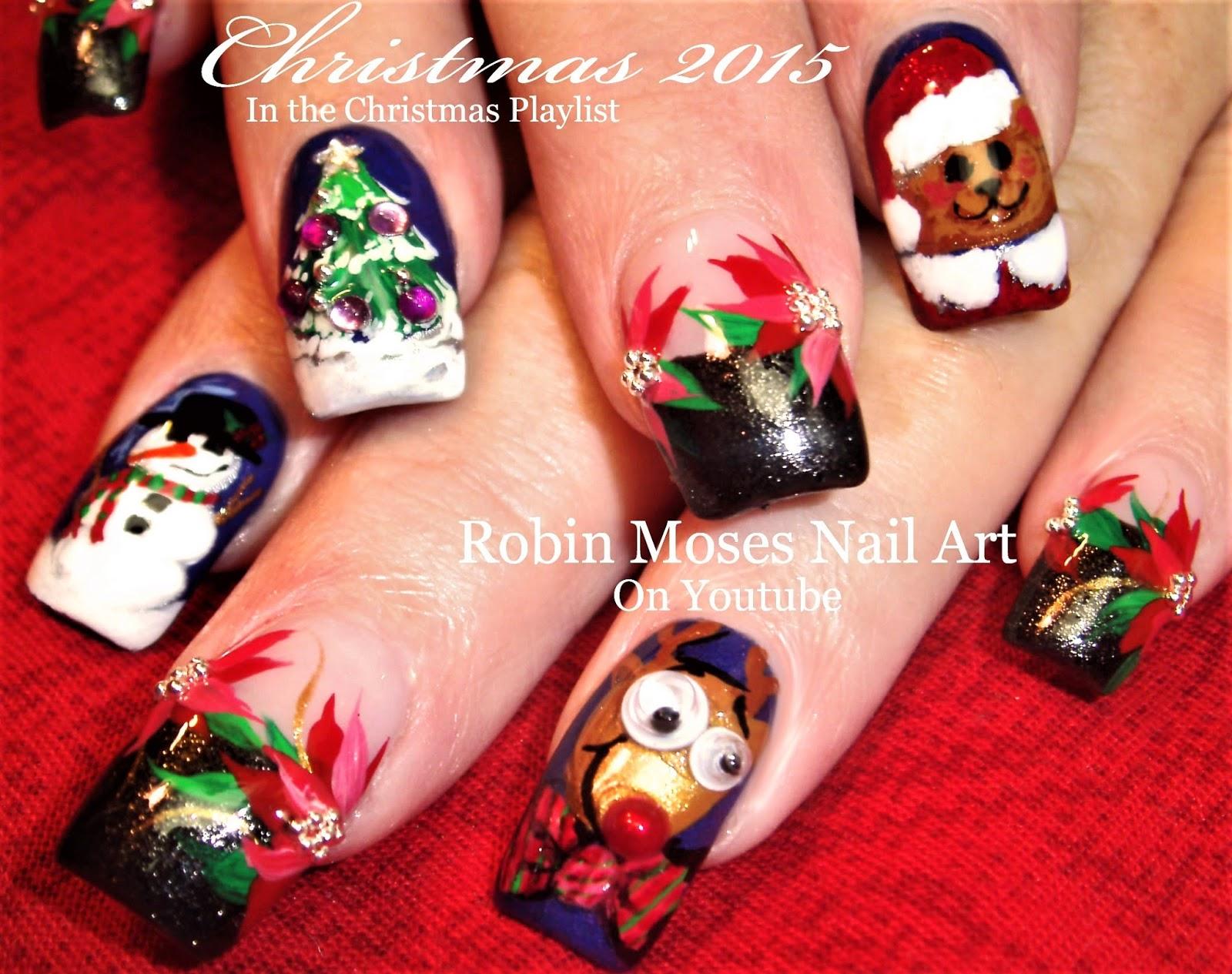 robin moses nail art: christmas nail art | cute diy xmas nails