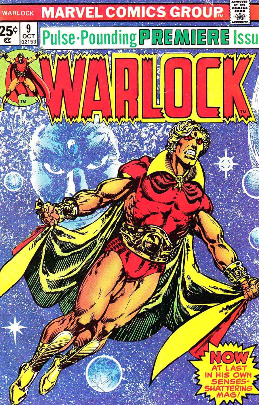 Warlock v1 #9 marvel 1970s bronze age comic book cover art by Jim Starlin