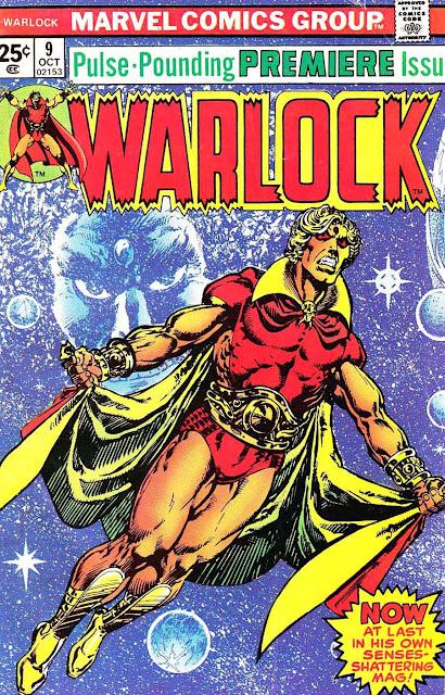 Warlock v1 #9 marvel 1970s bronze age comic book cover art by Jim Starlin