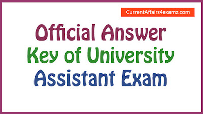 Official Answer Key of University Assistant Exam 2016