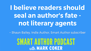 "image reads:  ""I belive readers should seal an author's fate - not literary agents"""