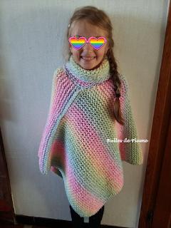 Poncho au tricotin