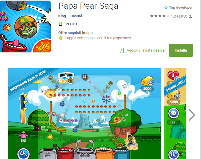 Soluzioni Papa Pear Saga livello 136-137-138-139-140-141-142-143-144-145-146-147-148-149-150 | Trucchi e Walkthrough level