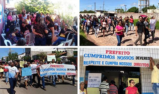 Servidores de Chapadinha (MA) protestam por reajustes salariais