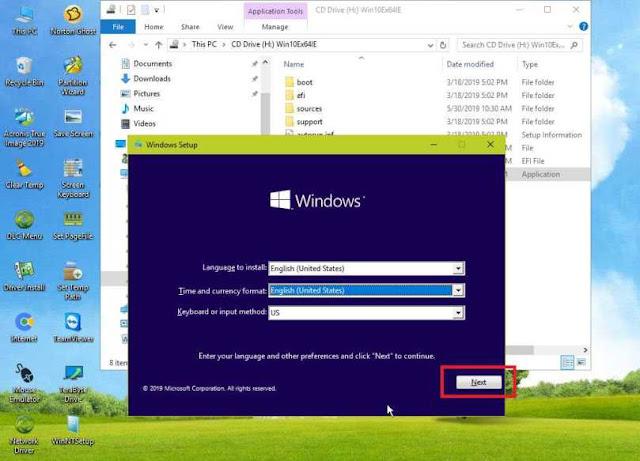 Install windows dengan flashdisk