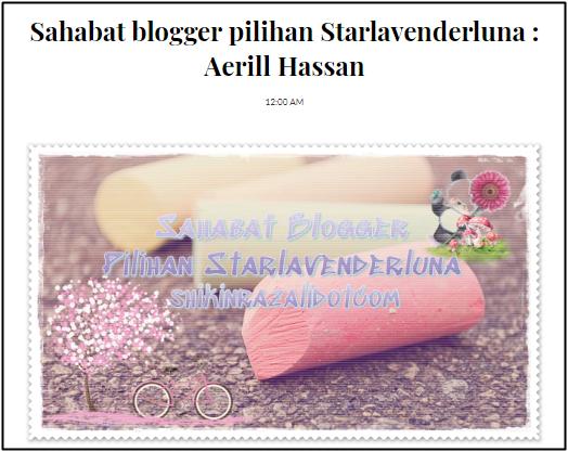 Terima Kasih Blogger ShikinRazali.com