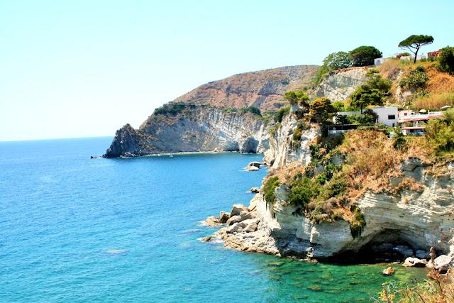 mare, acqua, rocce, vegetazione, Ischia,Isola