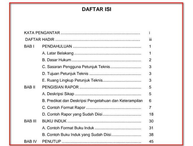 PANDUAN RAPORT DAN BUKU INDUK KURIKULUM 2013