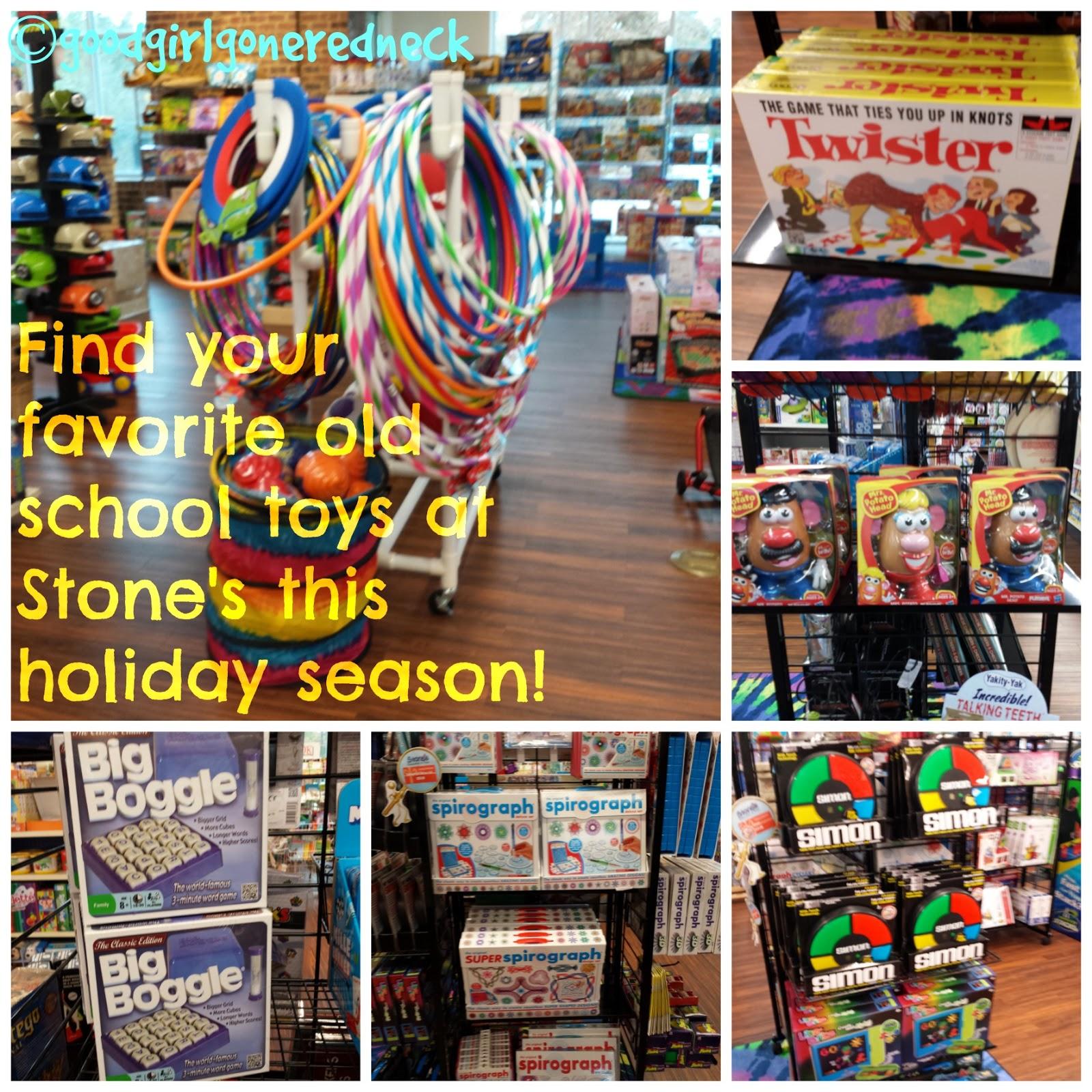 hula hoops, Twister, Mr. Potato Head, Boggle, Spirograph, Simon, games, childhood