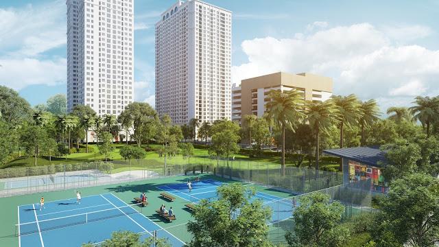 Quy mô không gian xanh và thể thao tại ECO LAKE VIEW