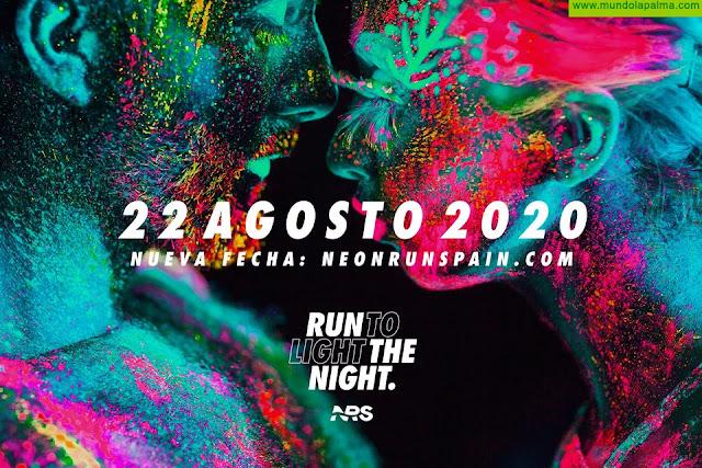 Neon Run Spain se aplaza hasta el 22 de agosto por prevención sanitaria