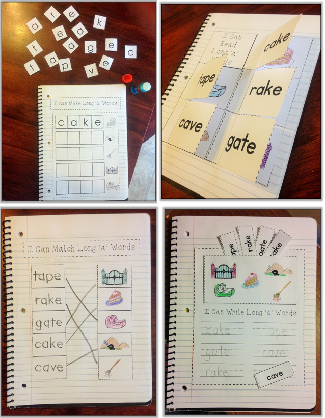 https://www.teacherspayteachers.com/Product/CVCe-Long-Vowels-Interactive-Notebook-1667687