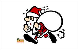 サンタクロースのイラストがかわいい無料のクリスマスカードテンプレート