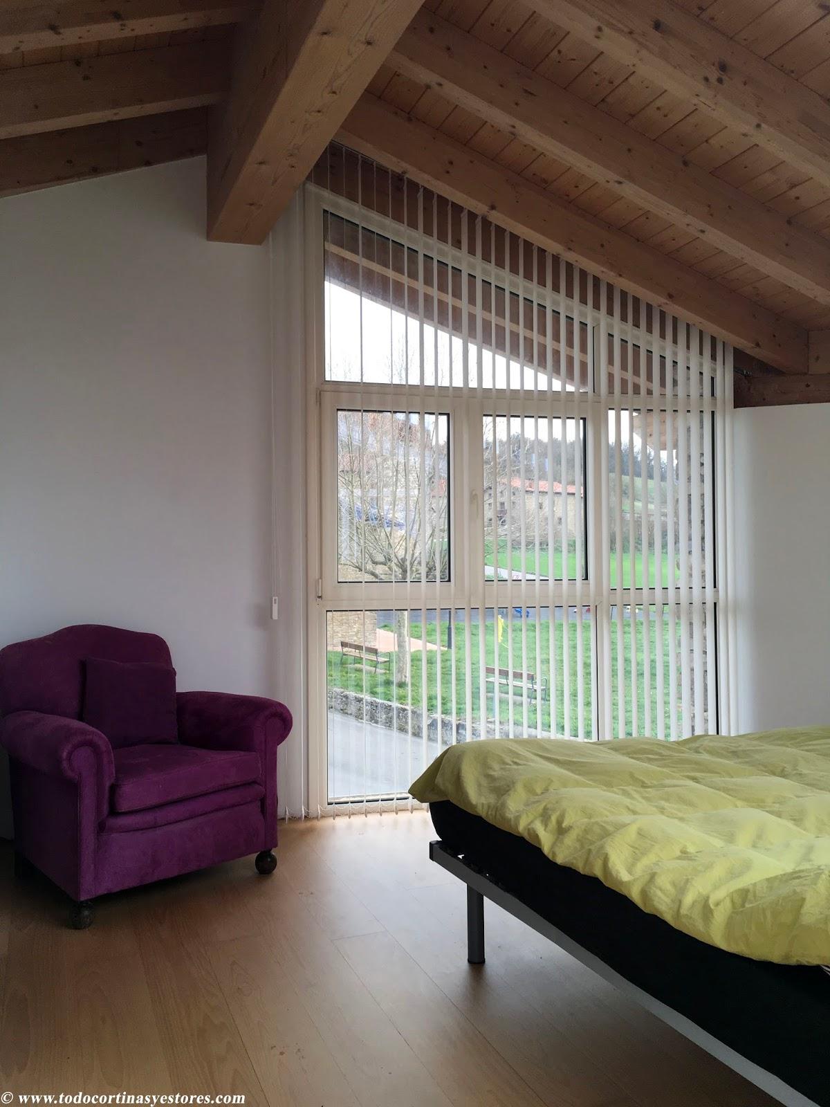 Decoracion interior cortinas verticales estores - Sistemas de cortinas y estores ...