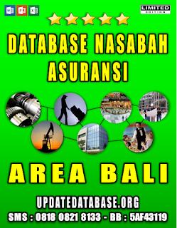 Jual Database Nasabah Asuransi Bali