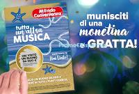 Logo Mondo Convenienza ''Tutta un'altra musica'': vinci gratis buoni spesa da 500€