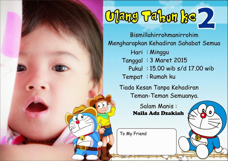 Contoh Kartu Undangan Ulang Tahun Anak Laki Laki ...