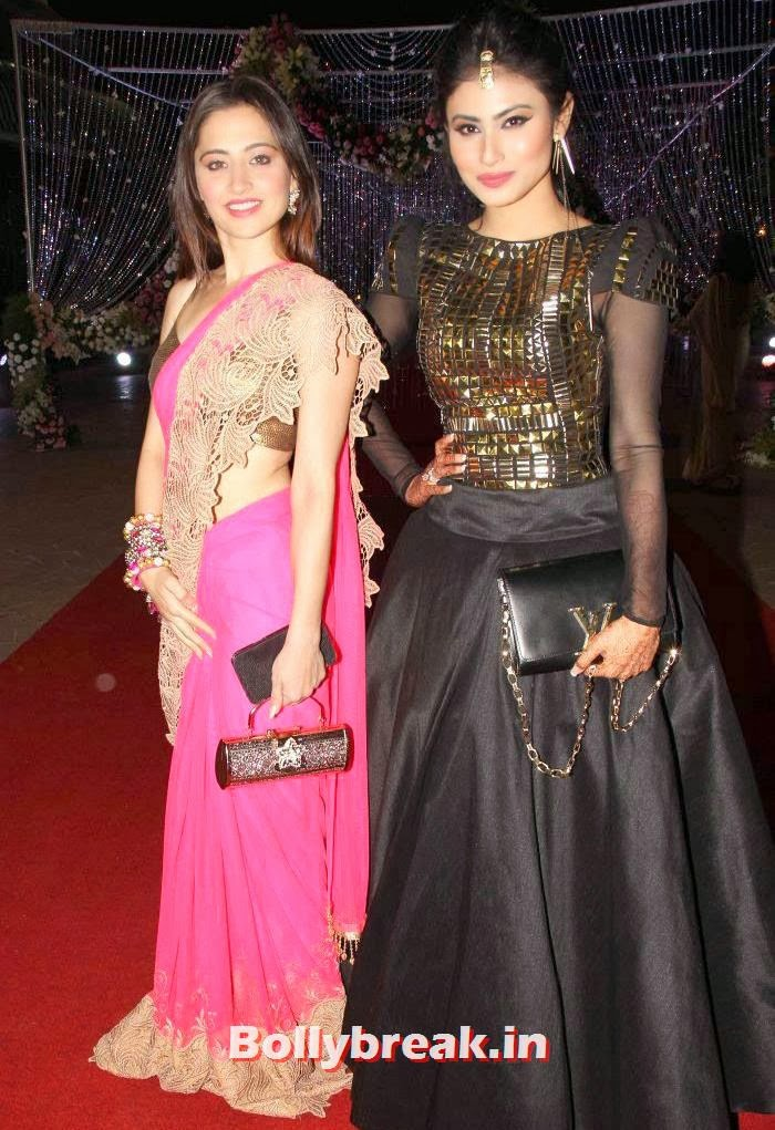 Mouni Roy, Aamna Shariff & Amit Kapoor's Wedding Reception Pics