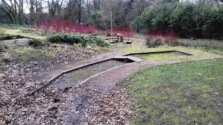 Abandoned Crazy Golf course in Stamford Park, Stalybridge