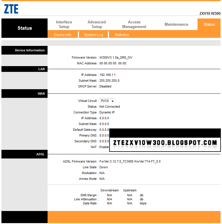 ZTE ZXV10 W300 FIRMWARES DOWNLOAD: W300V3 1 0a_DR0_OV