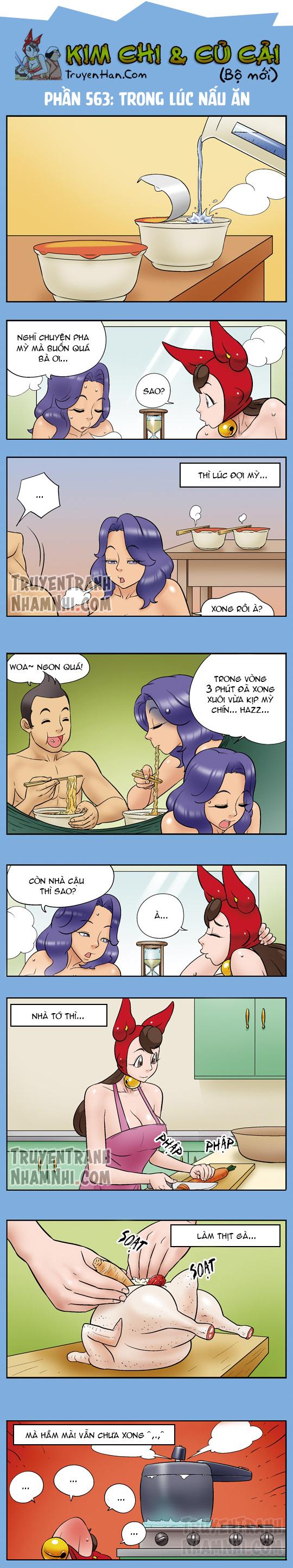 Kim Chi Và Củ Cải phần 563: Trong lúc nấu ăn