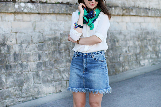 styling denim skirts- fashion bloggers