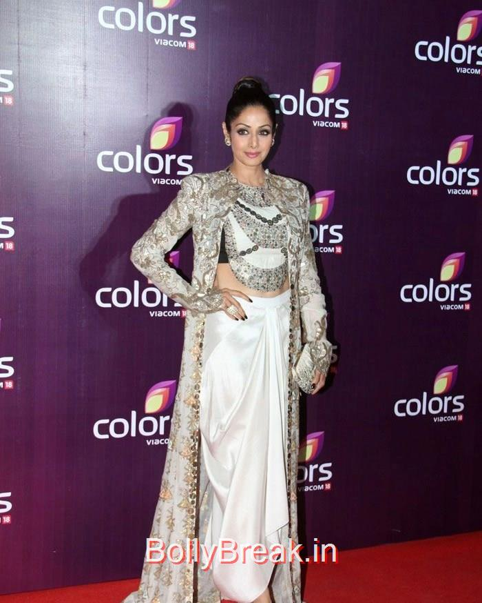Sridevi, Malaika Arora Khan Sridevi Hot HD Images At Colors Leadership Awards 2015