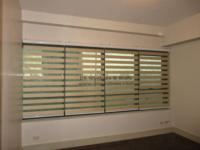 Multiple Sets of Combi Blinds in One Large Window - Makati, Philippines