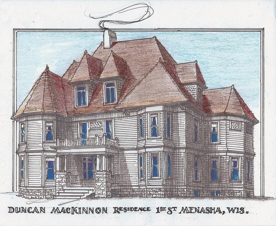 William Waters Oshkosh Architect Mac Kinnons Menasha Mansion