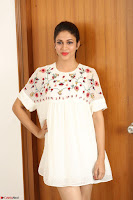 Lavanya Tripathi in Summer Style Spicy Short White Dress at her Interview  Exclusive 186.JPG