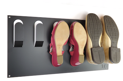 wall-mounted shoe rack, metal