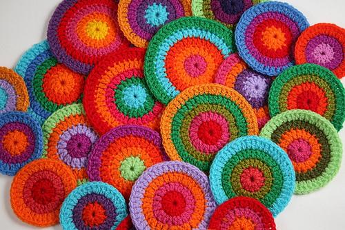 circulos, crochet, patrones