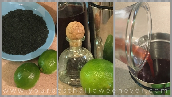 vampire's kiss margarita recipe collage