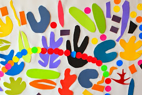 upclose shot of Matisse mural