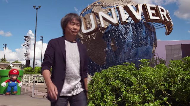 Shigeru Miyamoto Mario warp pipe Universal theme parks creepy scary